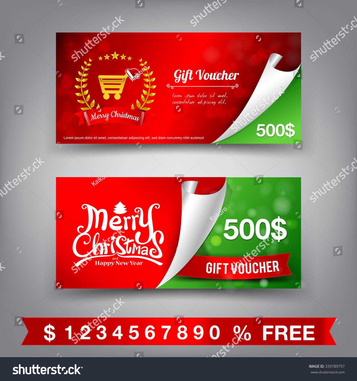 merry christmas gift voucher template vector illustration eps merry christmas gift voucher template vector illustration eps10 preview save to a lightbox