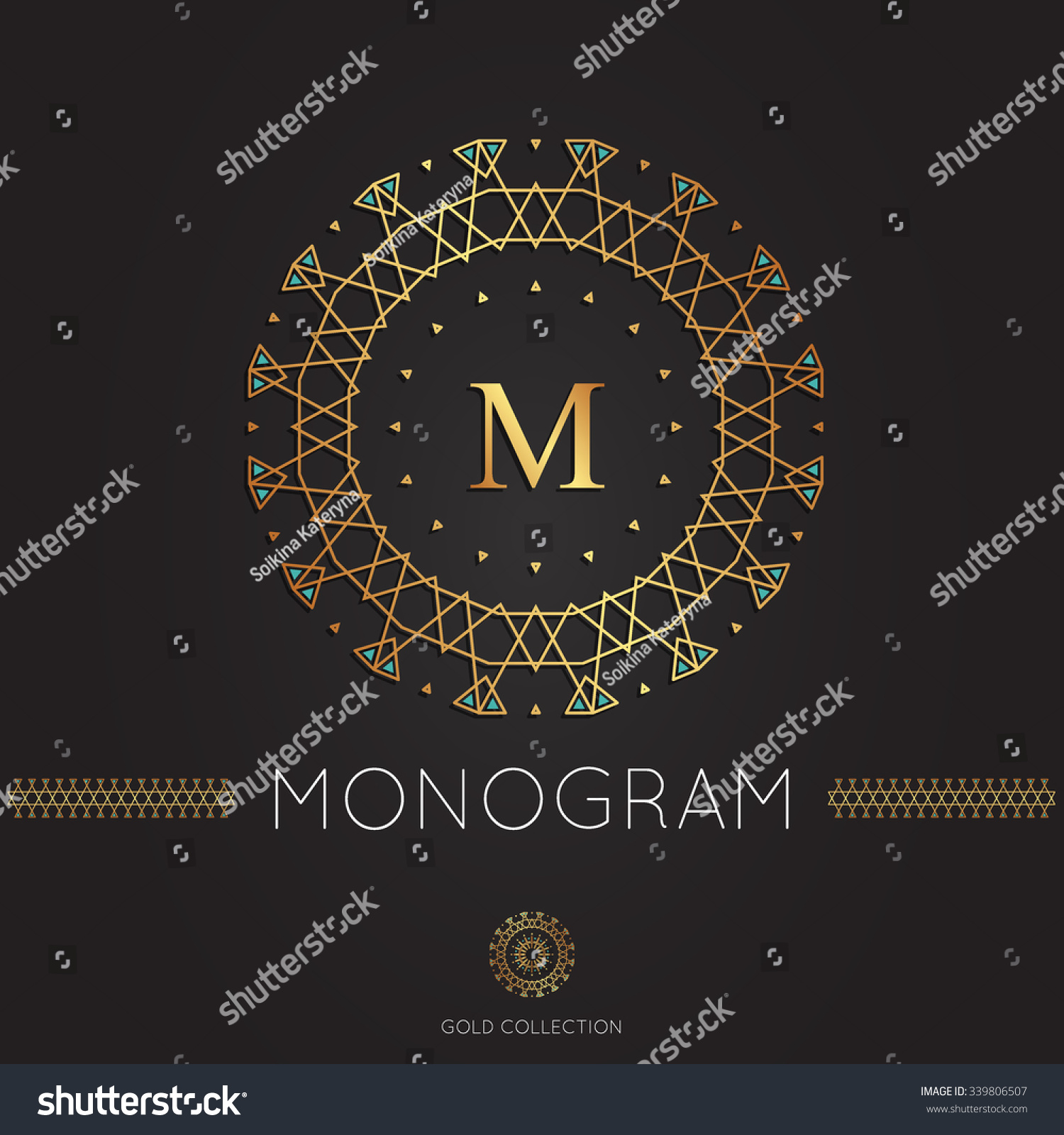Royal Modern Monogram Logo Vector Template Stock Vector 339806507 ...