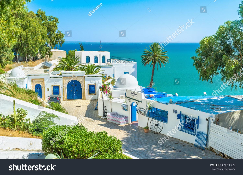 Sidi bou said tunisia august 31 stock photo 339811325 for Sidi bou said restaurant