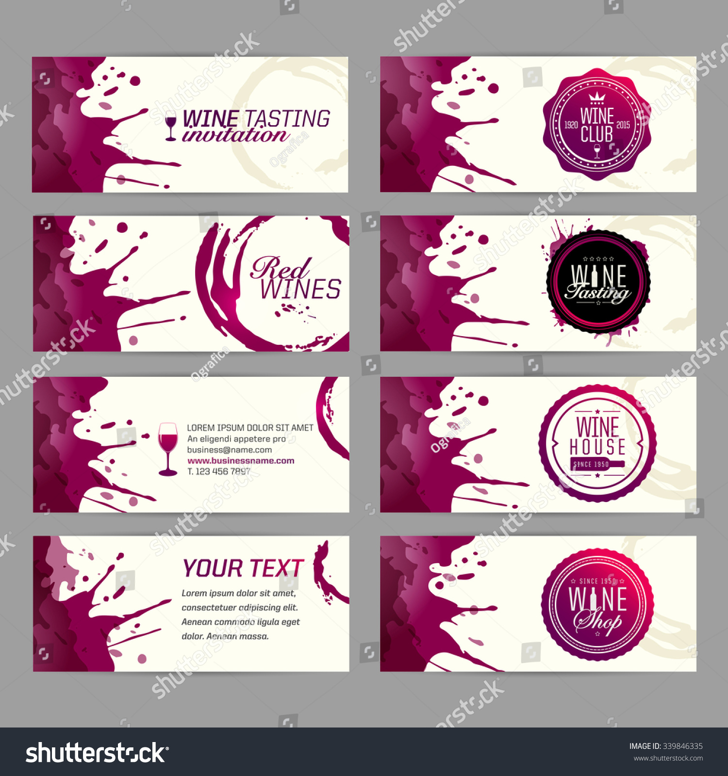 Card Banner Wine Business Wine Shop Stock Vector HD (Royalty Free ...