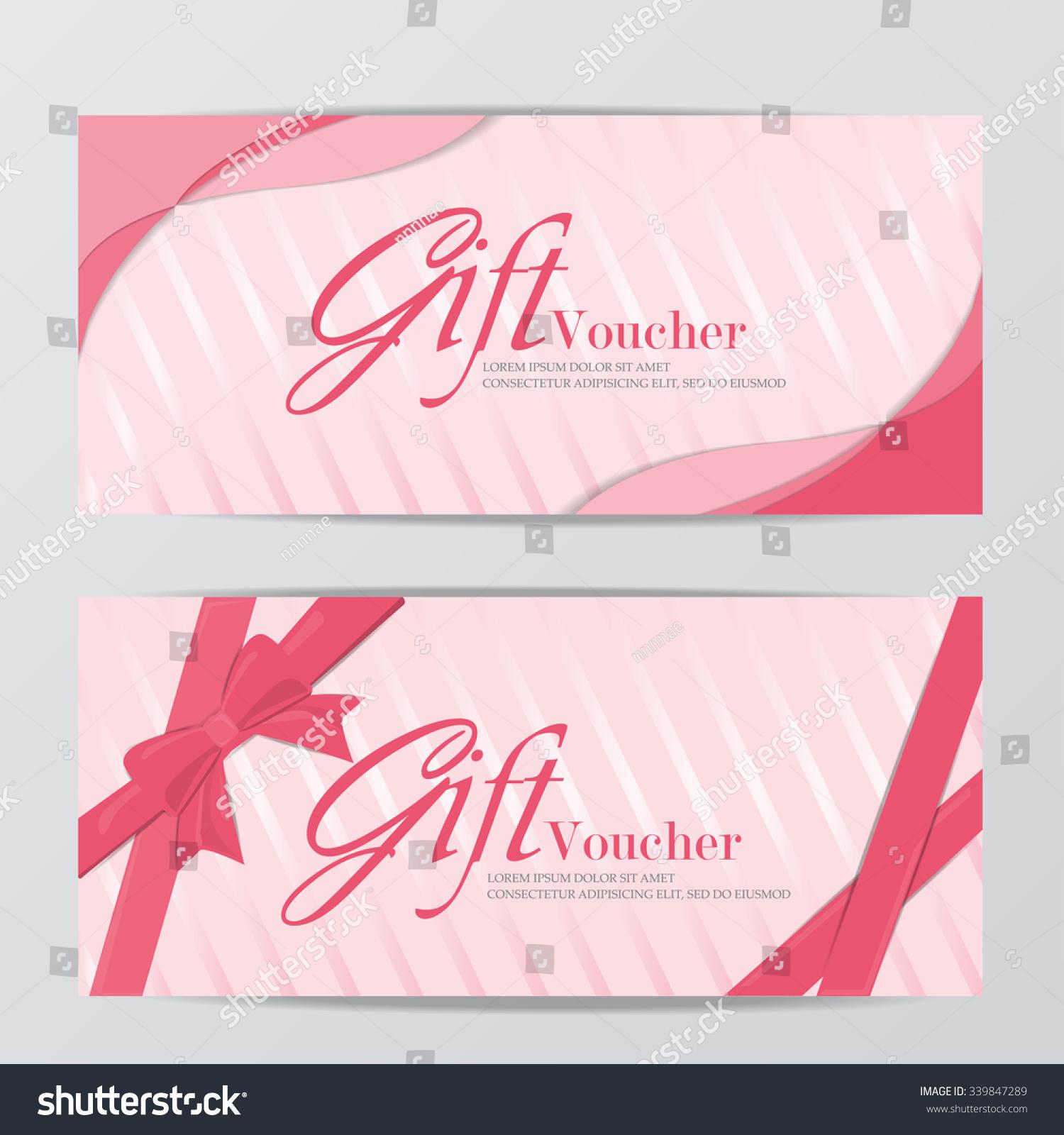 Girl Gift Voucher Certificate Coupon Template Stock Vektorgrafik