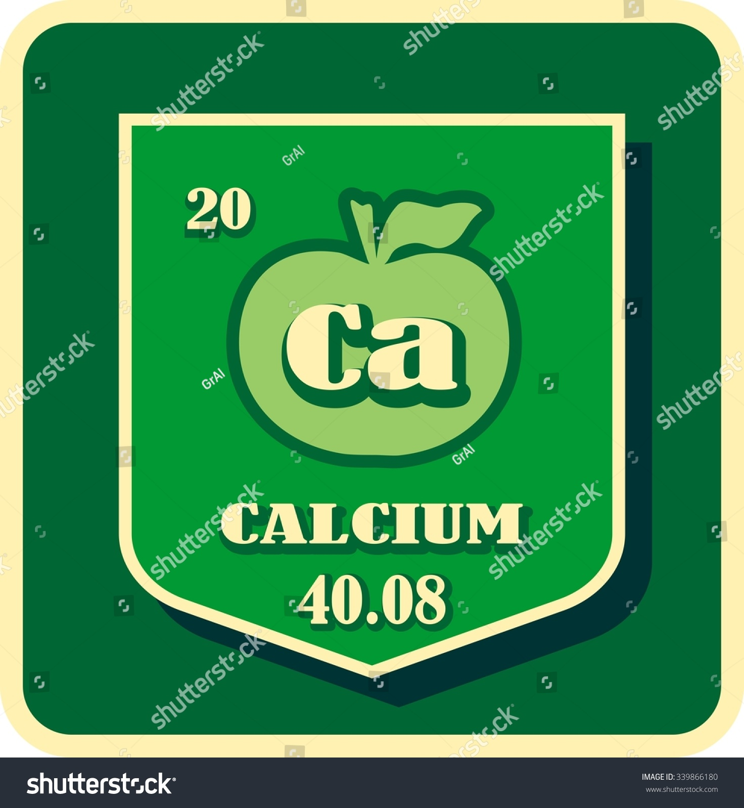 Vector nutrition facts apple calcium chemical stock vector vector of nutrition facts apple calcium chemical element buycottarizona