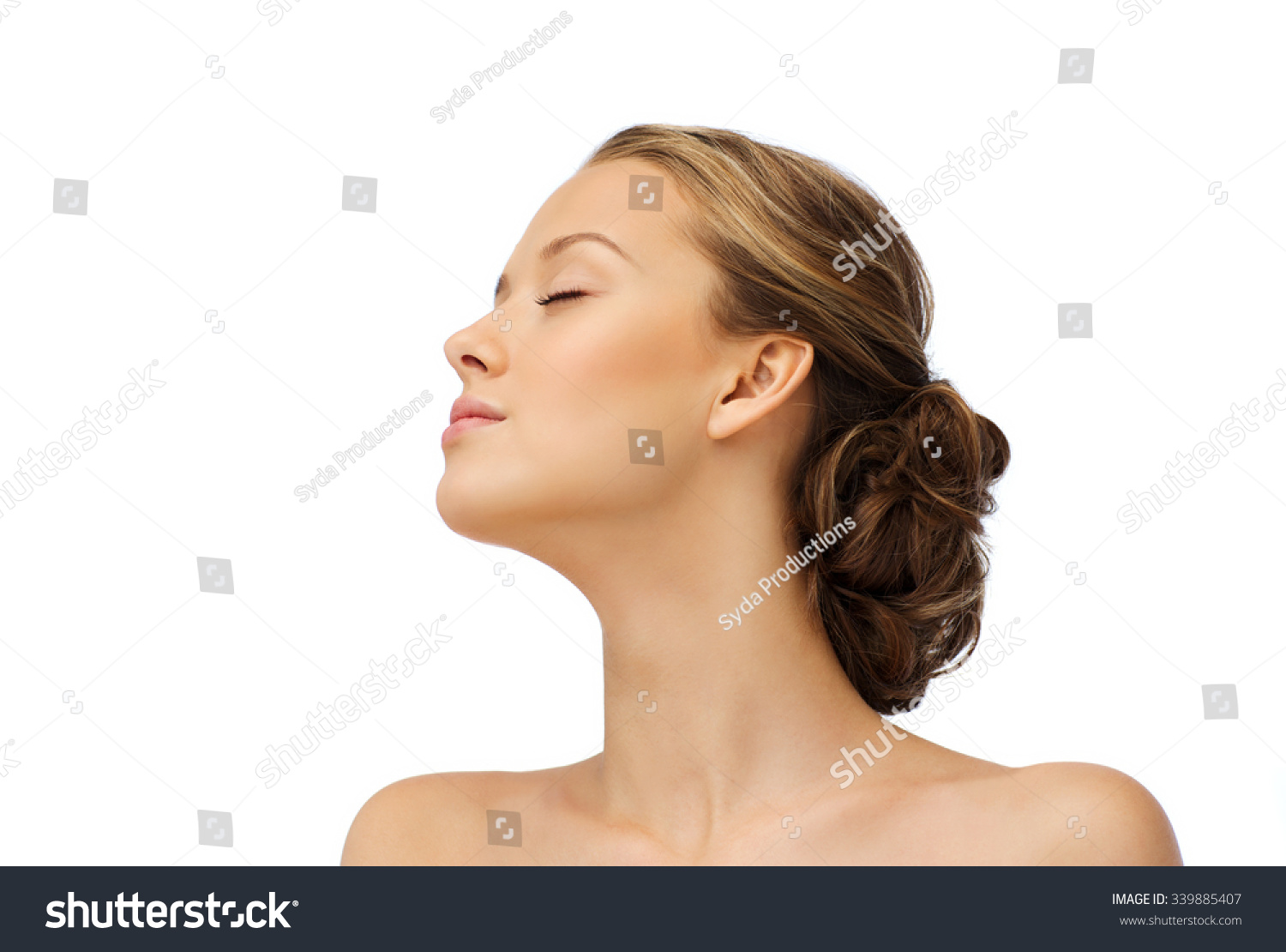 Beauty People Health Concept Young Woman Stock Photo ...