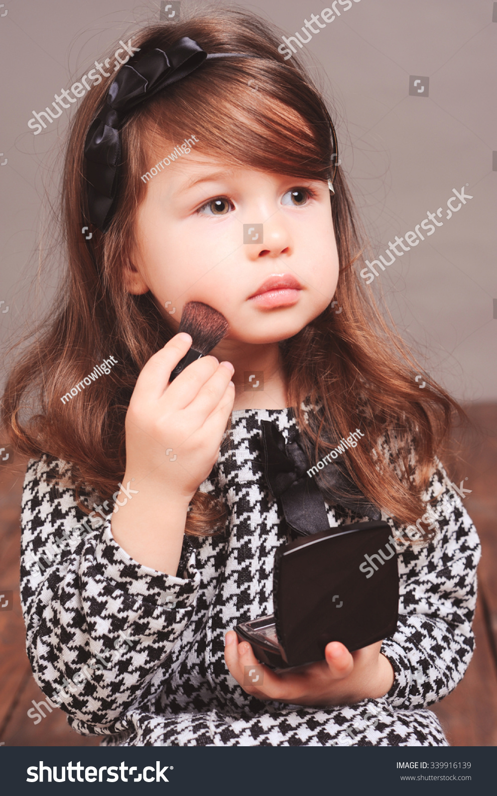cute baby girl 45 year old stock photo (royalty free) 339916139
