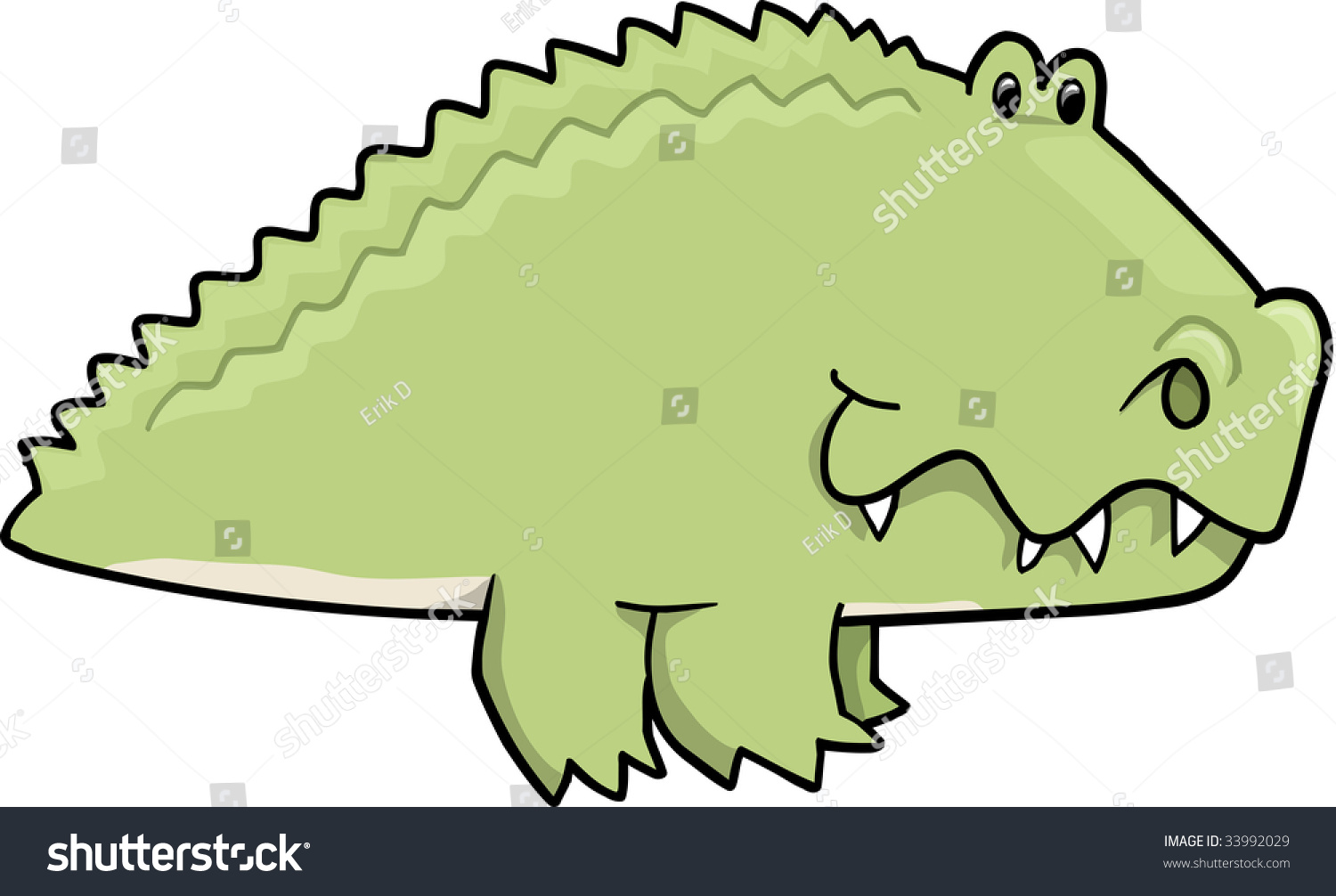 Cute Alligator Vector Illustration Stock Vector 33992029 ...