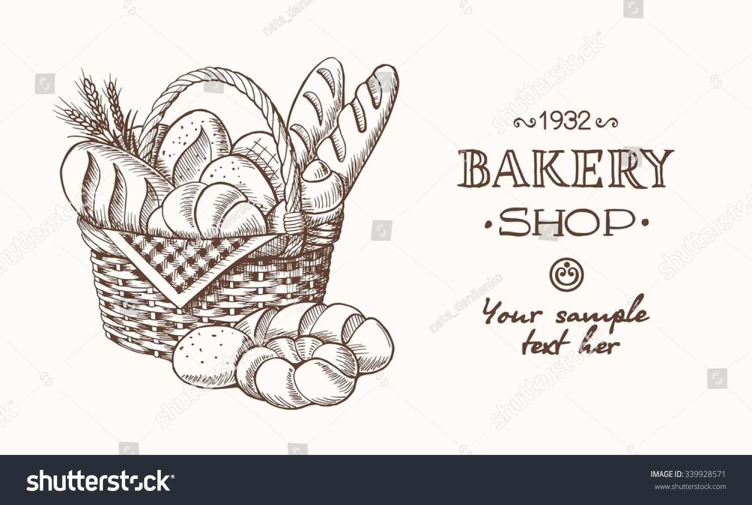 Vintage Ilration With Bread Sketch