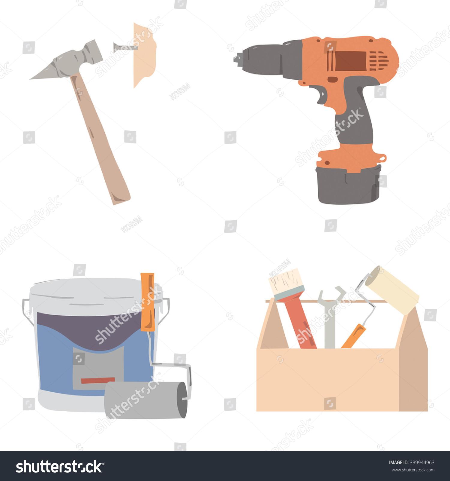 Repairs Instruments Repairs Stock Vector (Royalty Free