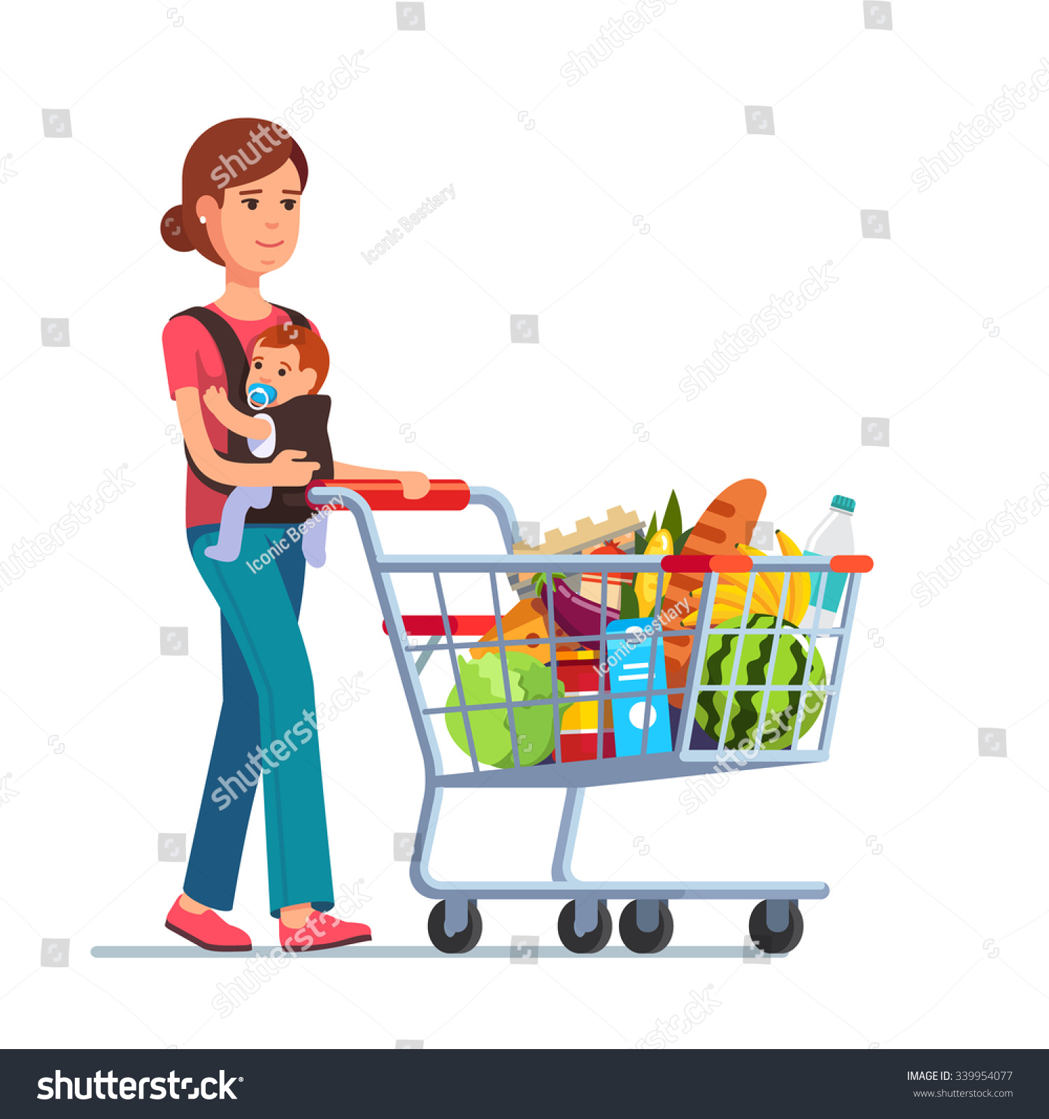 Image Gallery mom shopping clip art
