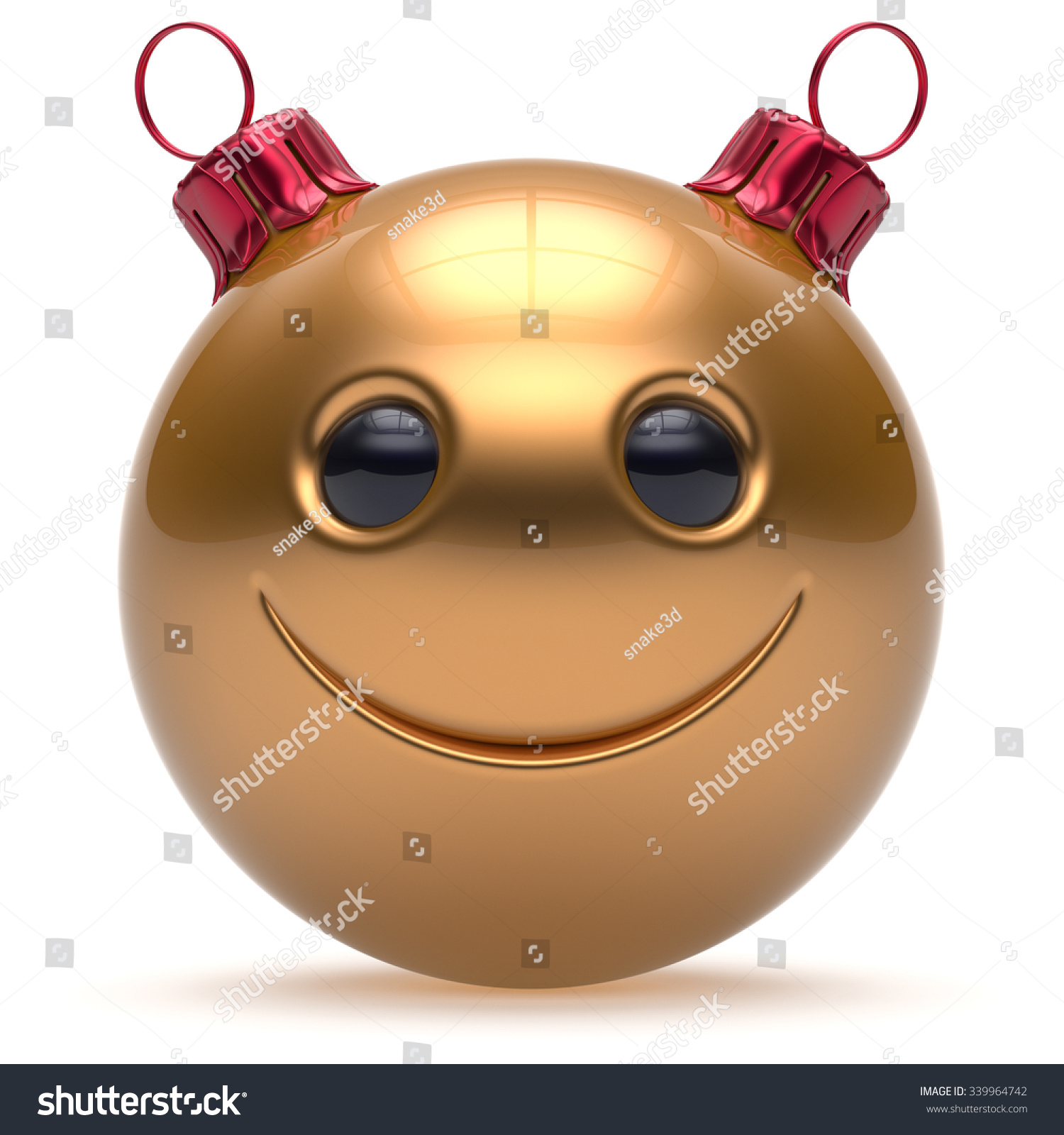 Christmas ball smiley face happy new year s eve emoticon