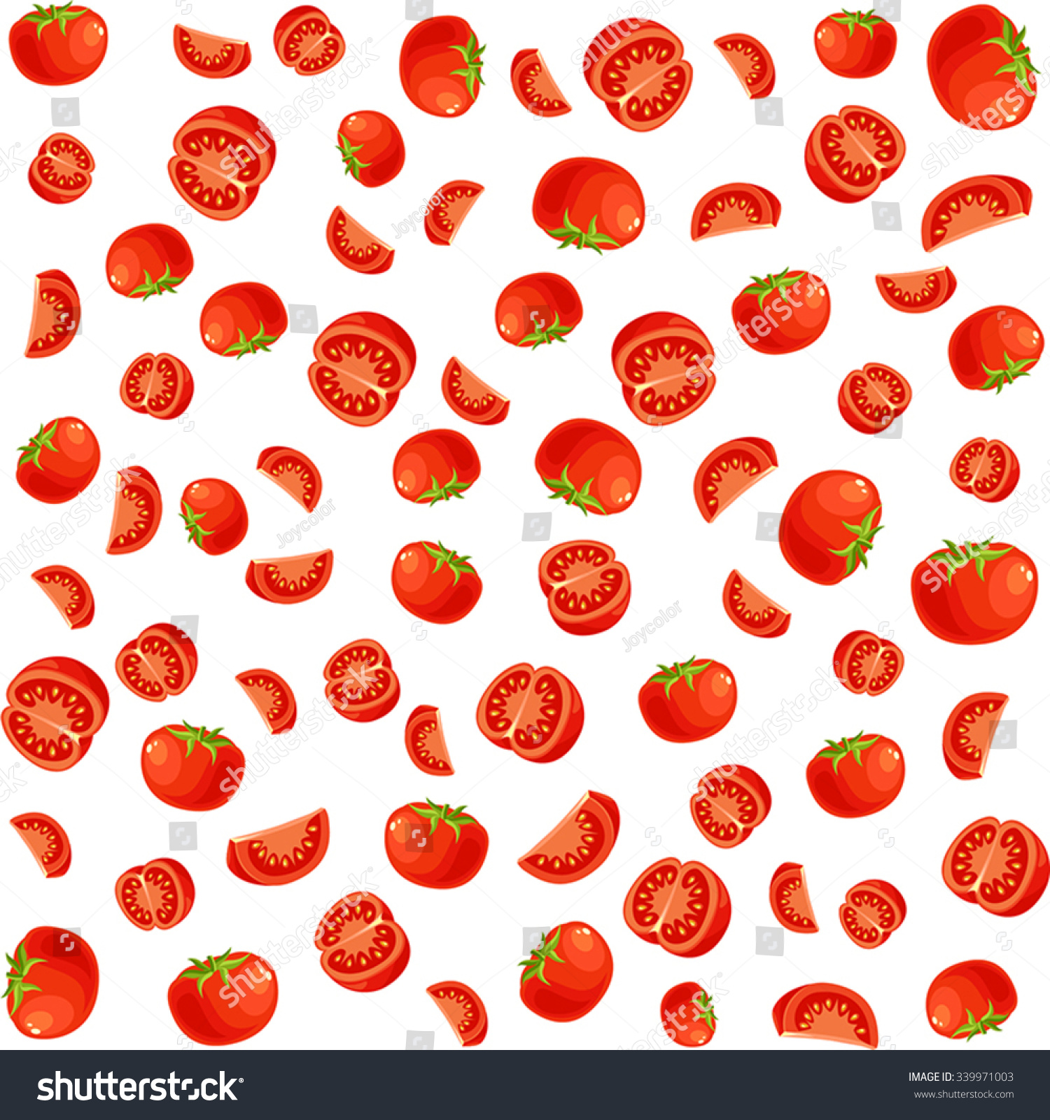 pattern with tomato