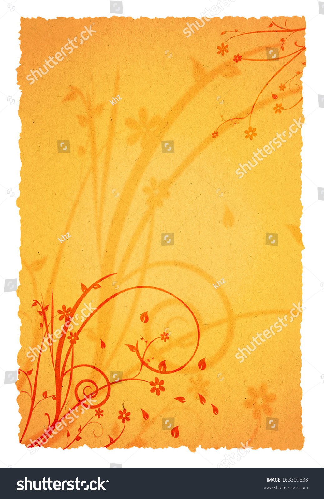 old page background ornaments your messages stock illustration