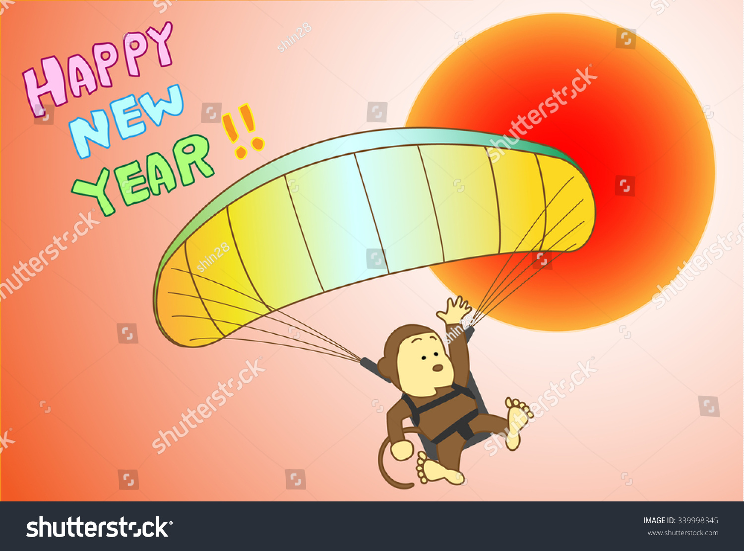 Monkey Greeting Card Monkey Which Does Stock Vector Royalty Free