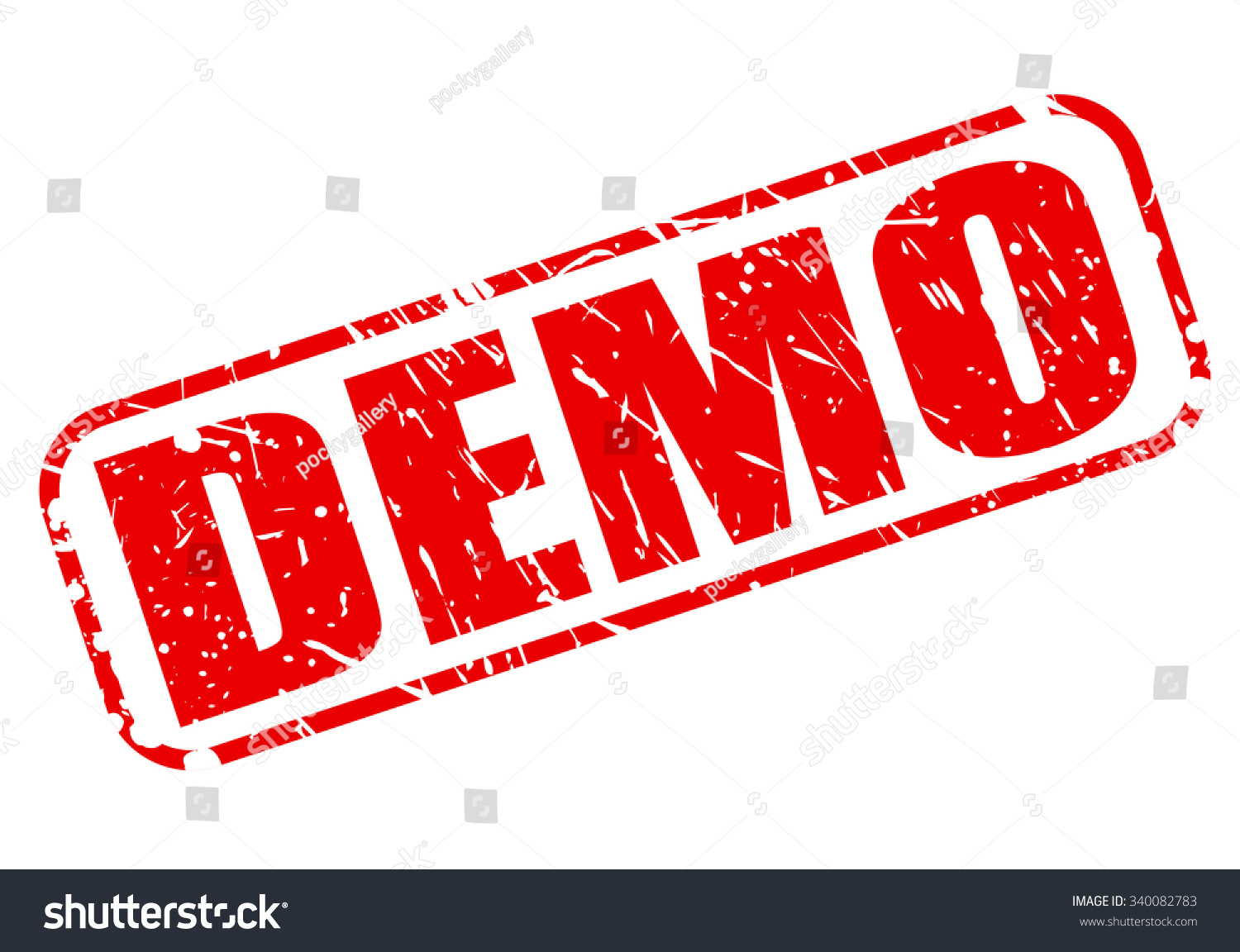demo red stamp text on white stock vector 340082783 shutterstock