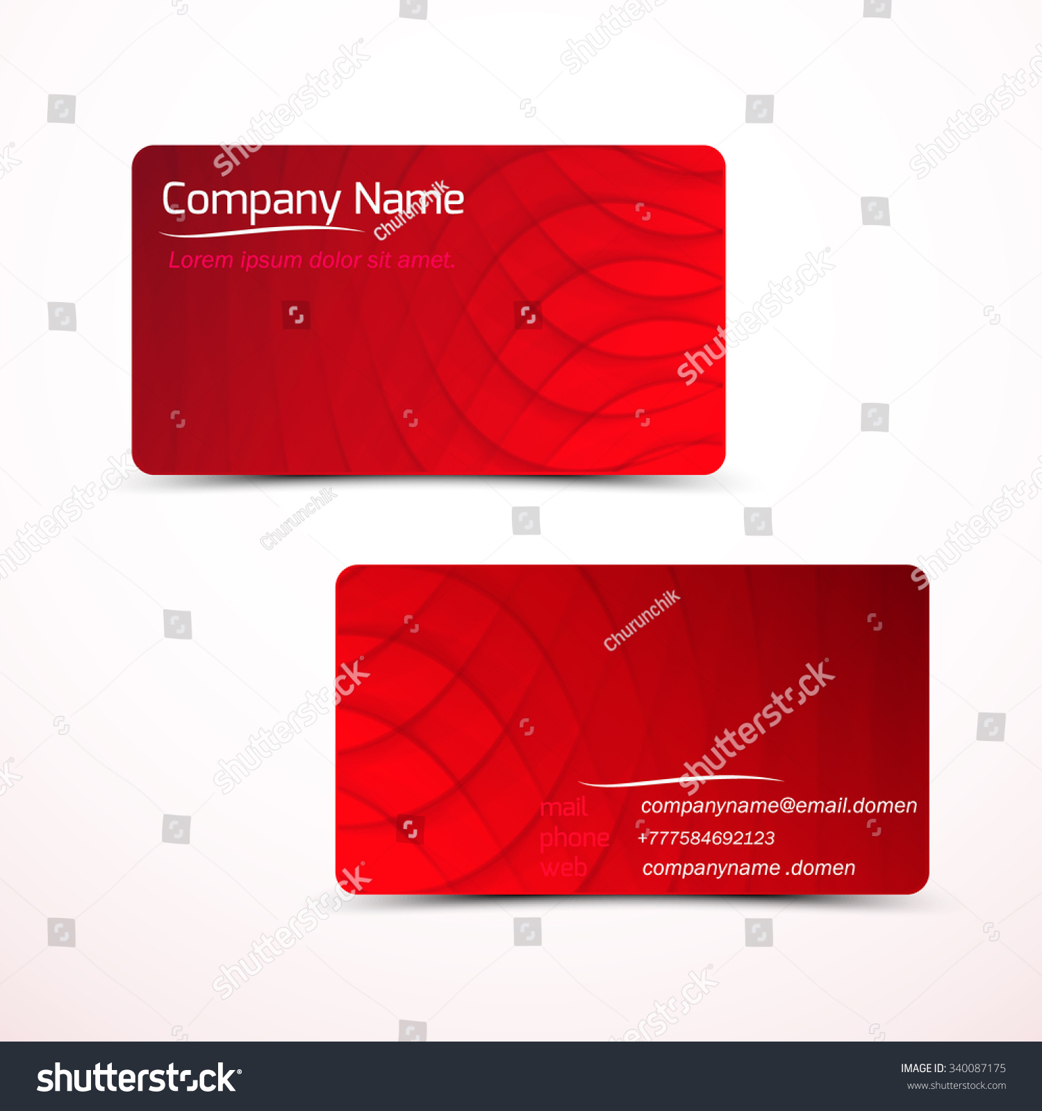 Business Cards Template Visiting Card Set Stock Vector 340087175 ...