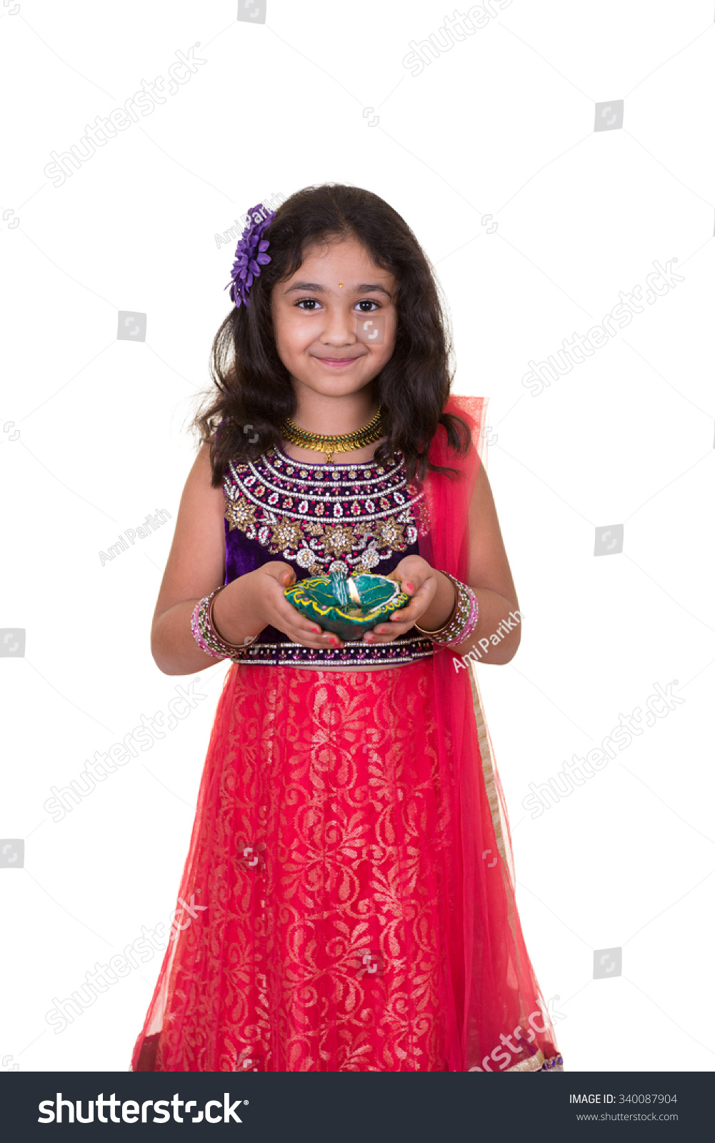 Portrait Little Girl Holding Lamp Isolated Stock Photo 340087904 ... for Girl Holding Lamp  555kxo