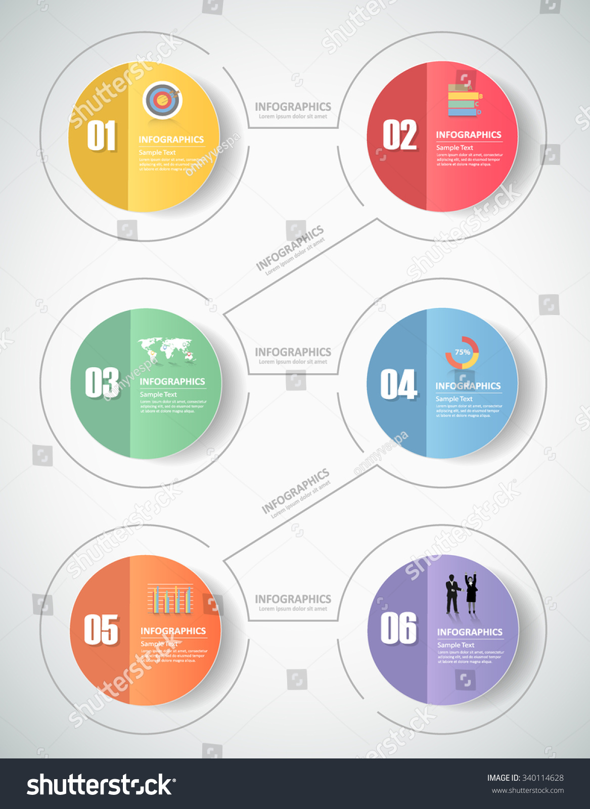 6 steps infographic template can be used for workflow layout diagram number options progress timeline