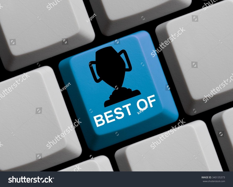 Computer keyboard symbol trophy showing best stock illustration computer keyboard with symbol of trophy showing best of biocorpaavc