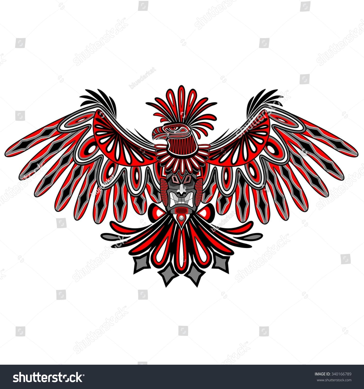 eagle tattoo style haida art stock vector illustration 340166789 shutterstock. Black Bedroom Furniture Sets. Home Design Ideas