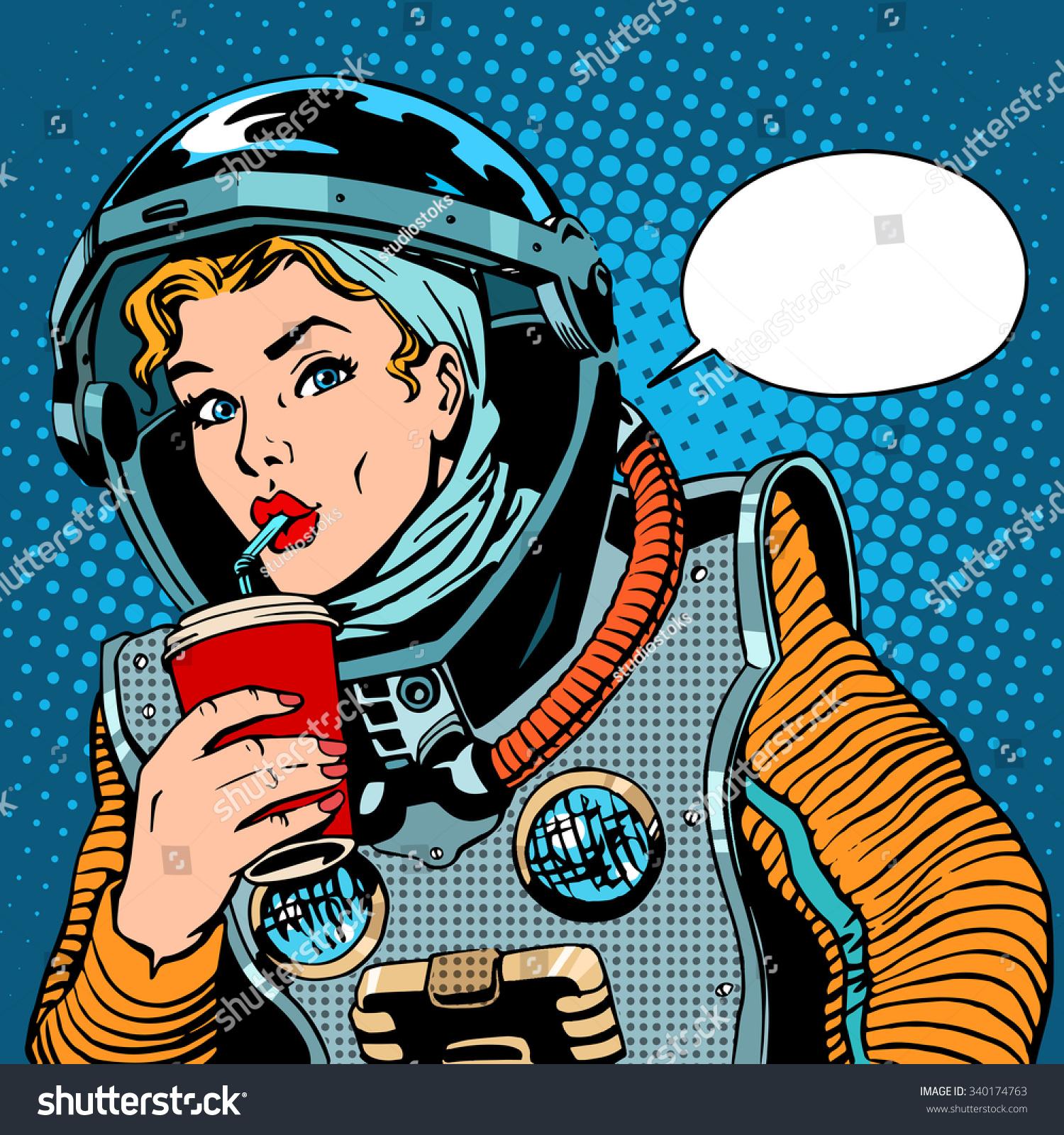 retro girl astronaut - photo #14