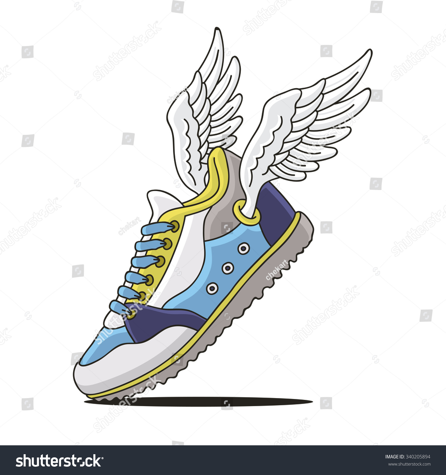 flying shoes on white background vector stock vector shoe with wings logo quiz shoes with wings logo brand