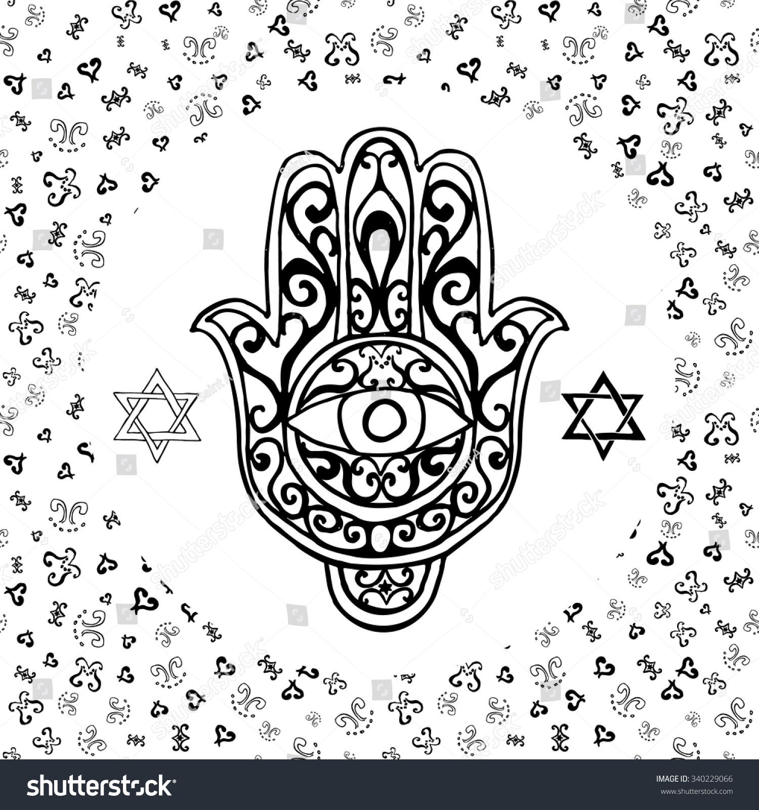 Royalty Free Hand Drawn Sketch Of Traditional Jewish 340229066