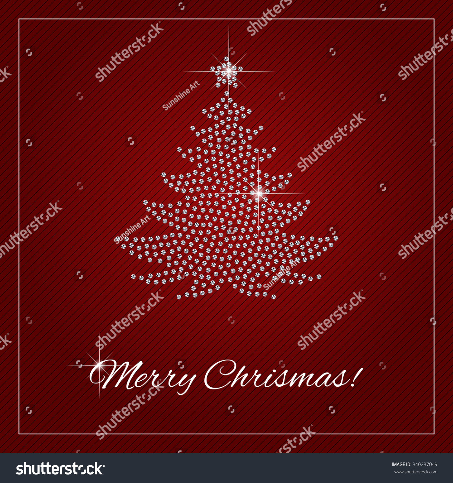 Poster template for christmas tree