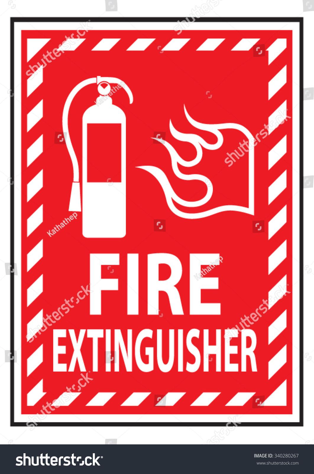 fire extinguisher sign stock vector 340280267 shutterstock