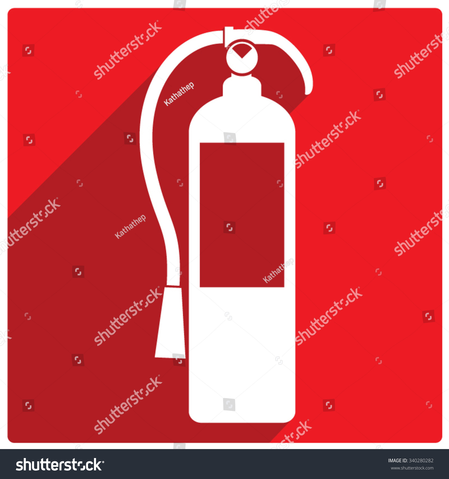 fire extinguisher sign stock vector illustration 340280282
