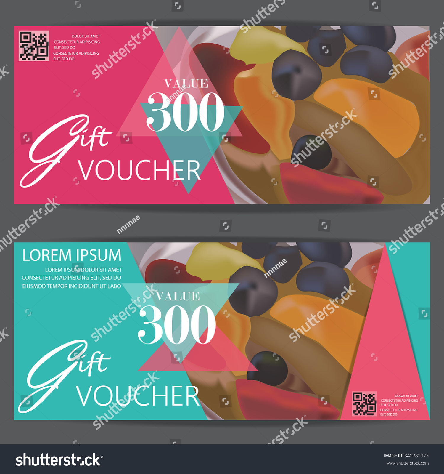 Gift Voucher Certificate Coupon Template, Modern Style For Restaurant And  Cafe Food Business. Can