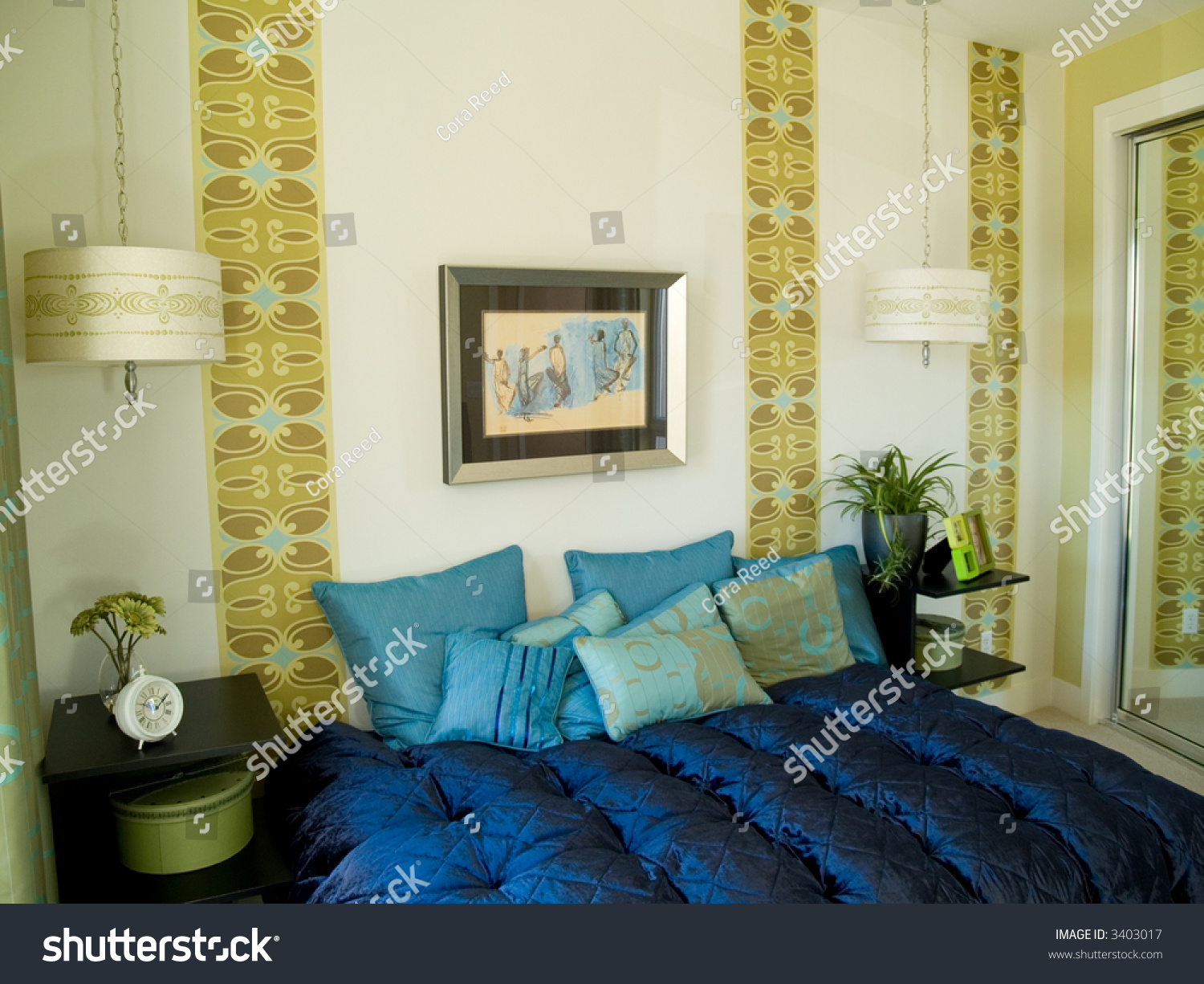 Funky bedroom with a 60 39 s design feel stock photo 3403017 for Funky bedroom designs
