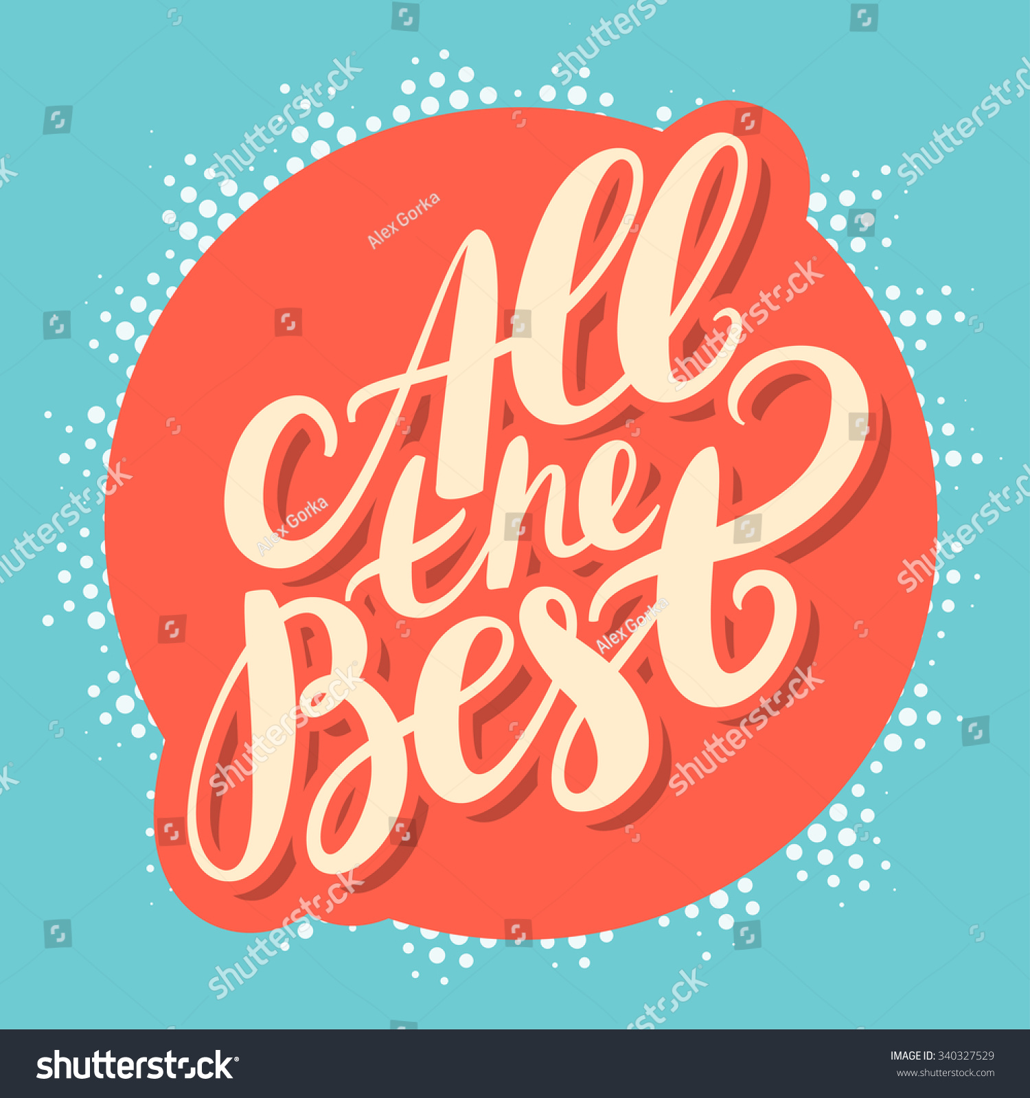 All the best stock vector illustration 340327529 for All the very best images