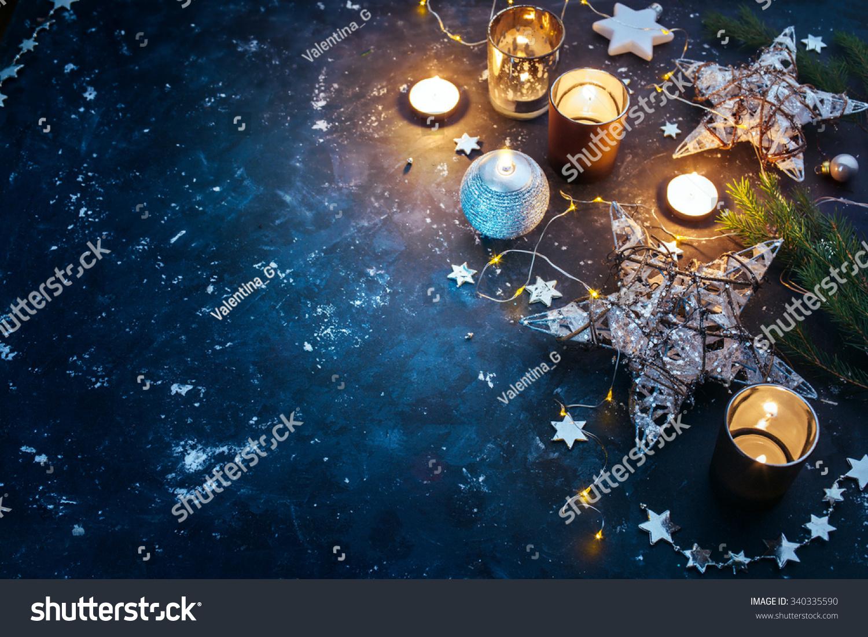Christmas background festive decoration stars candles for 7 candle christmas decoration