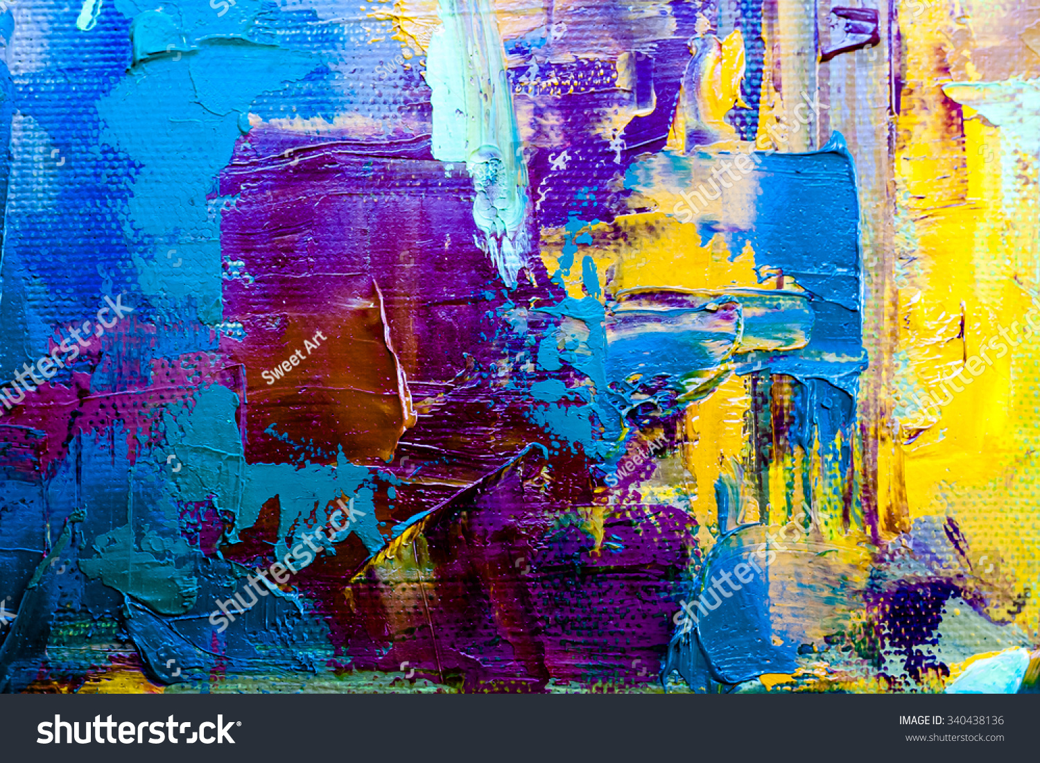 Abstract art background oil painting on stock illustration for Contemporary oil paintings