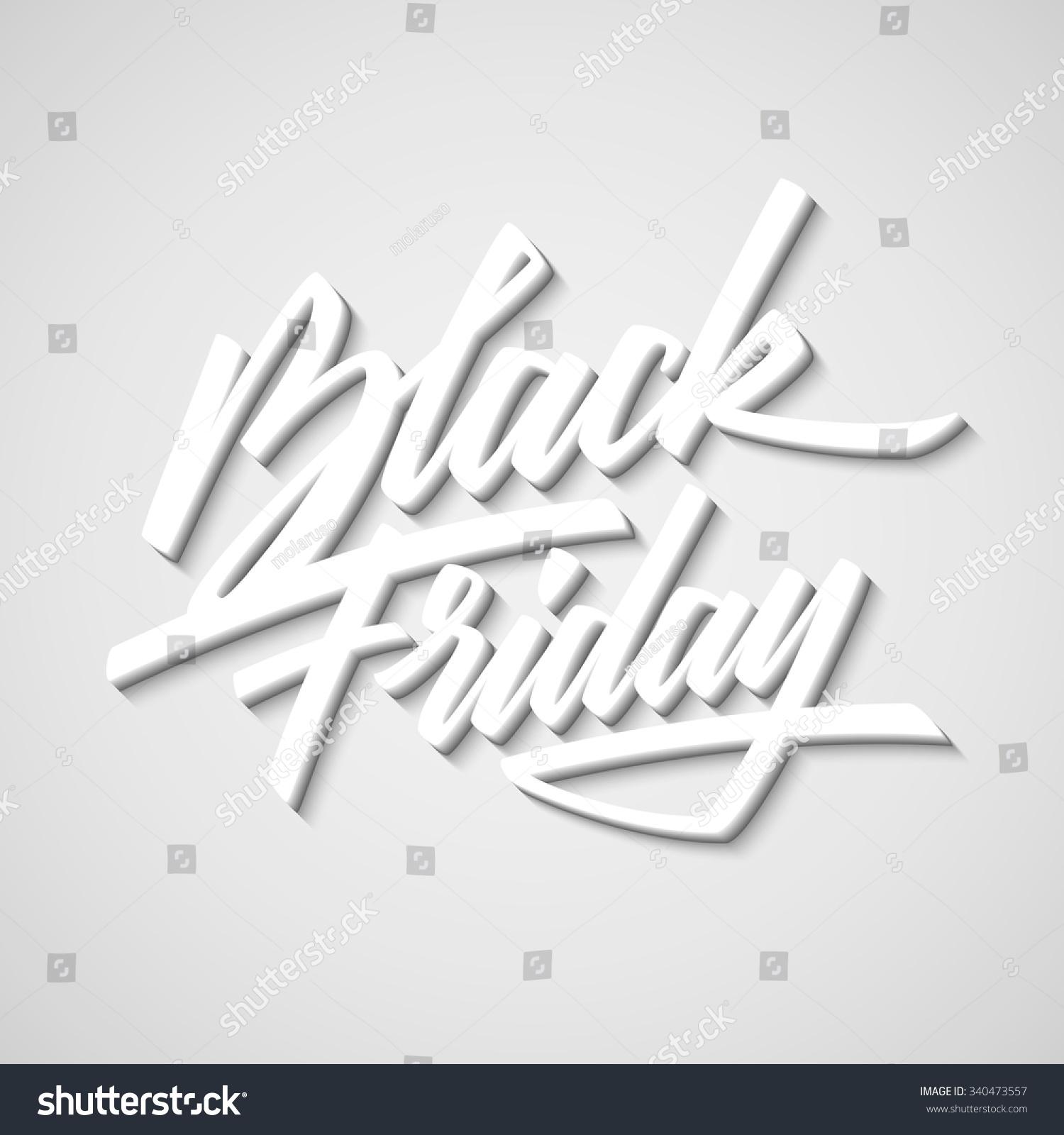 Black Friday Sale Handmade Lettering 3d Oblique