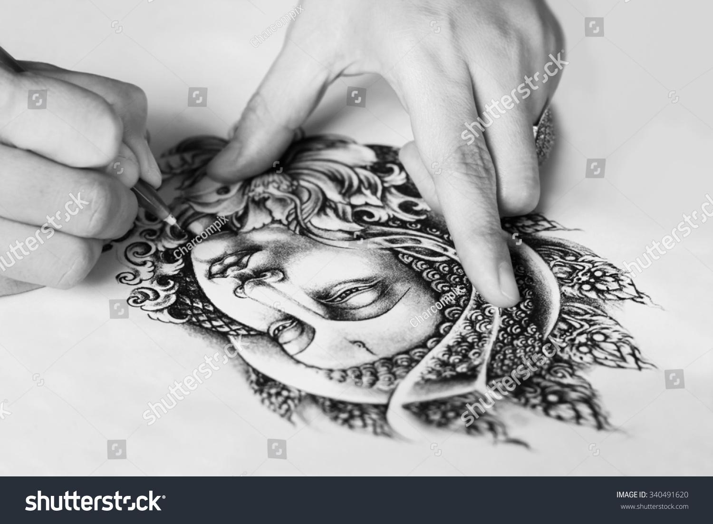Tattoo Designs Hand Drawn Image Buddha Stock Photo Edit Now