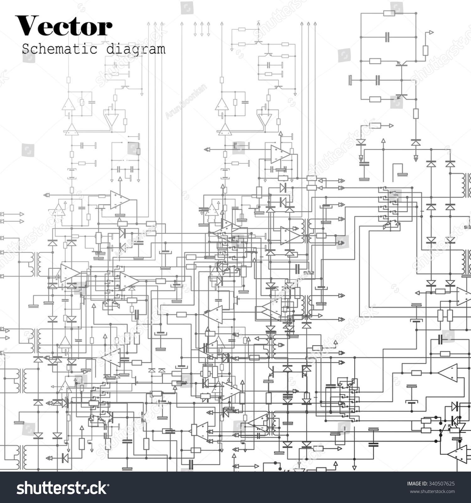 schematic diagram stock vector illustration 340507625. Black Bedroom Furniture Sets. Home Design Ideas