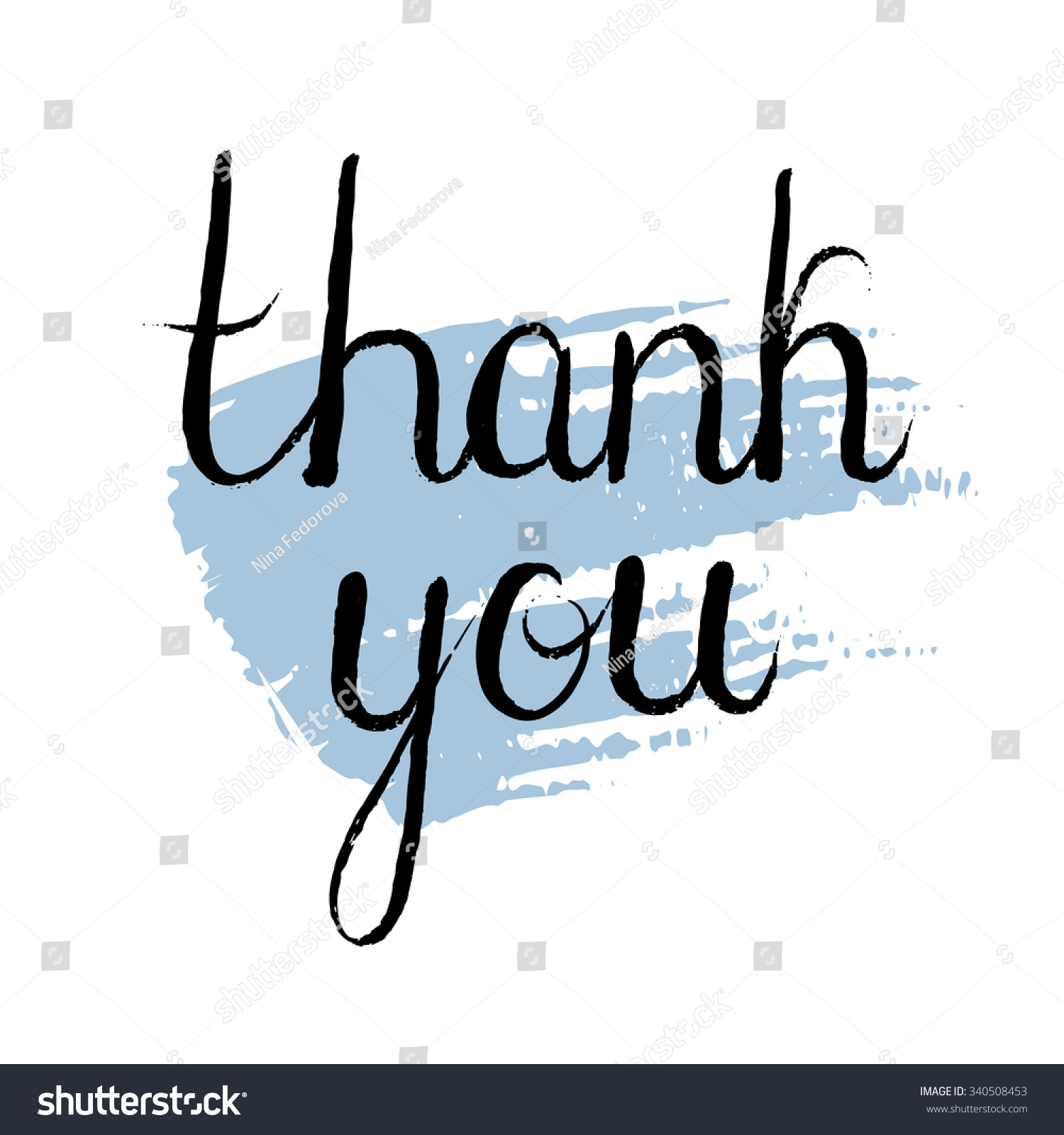 Thank You Hand Drawn Typography Design Stock Vector