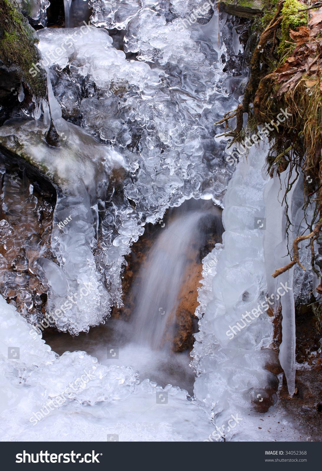 White Creek Winter Closeup Most Beautiful Stock Photo 34052368 Shutterstock