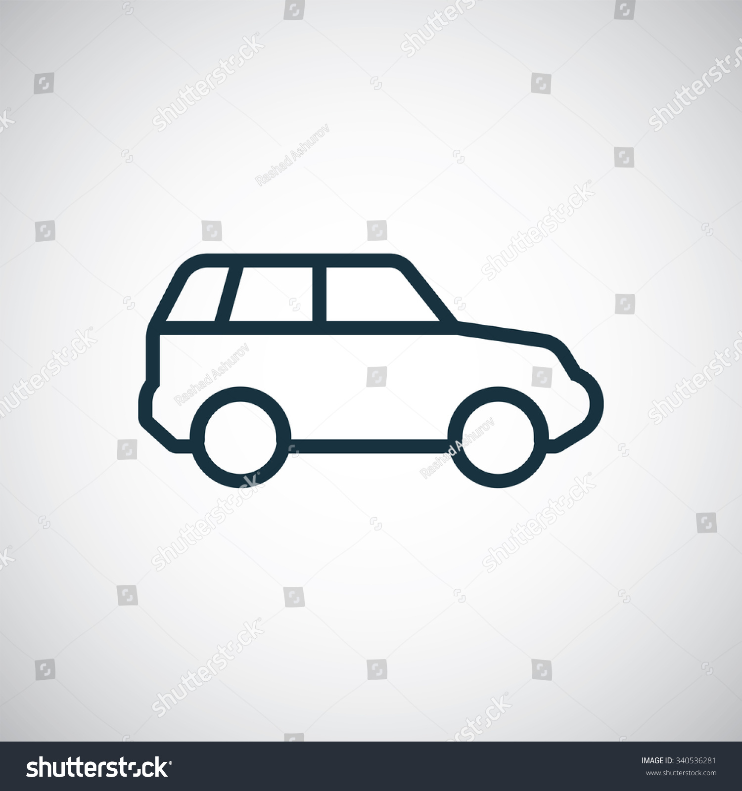 Suv Outline Thin Flat Digital Icon For Web And Mobile Stock