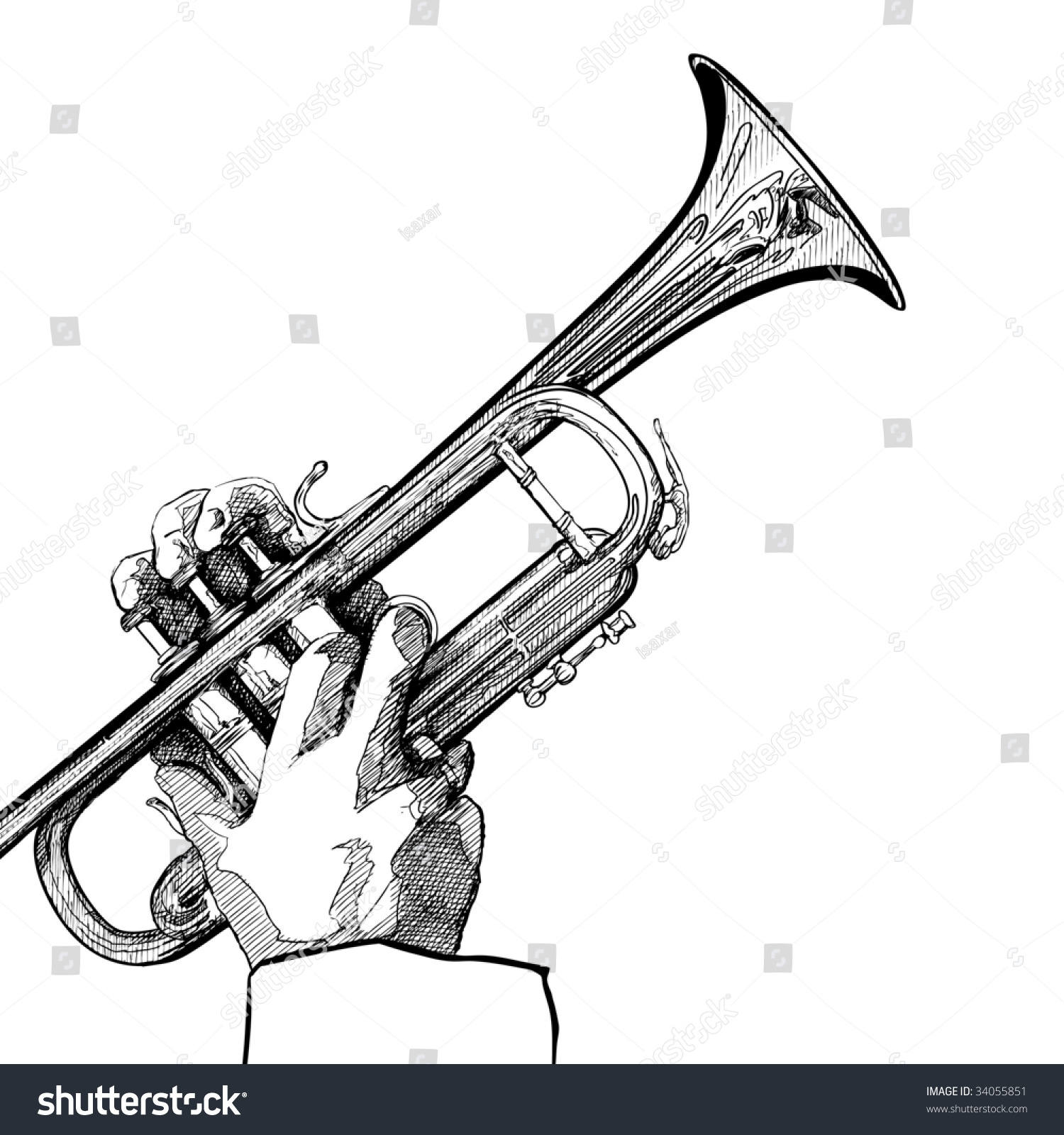 Uncategorized Drawing Of A Trumpet hand drawing vector illustration trumpet on stock 34055851 of a white background