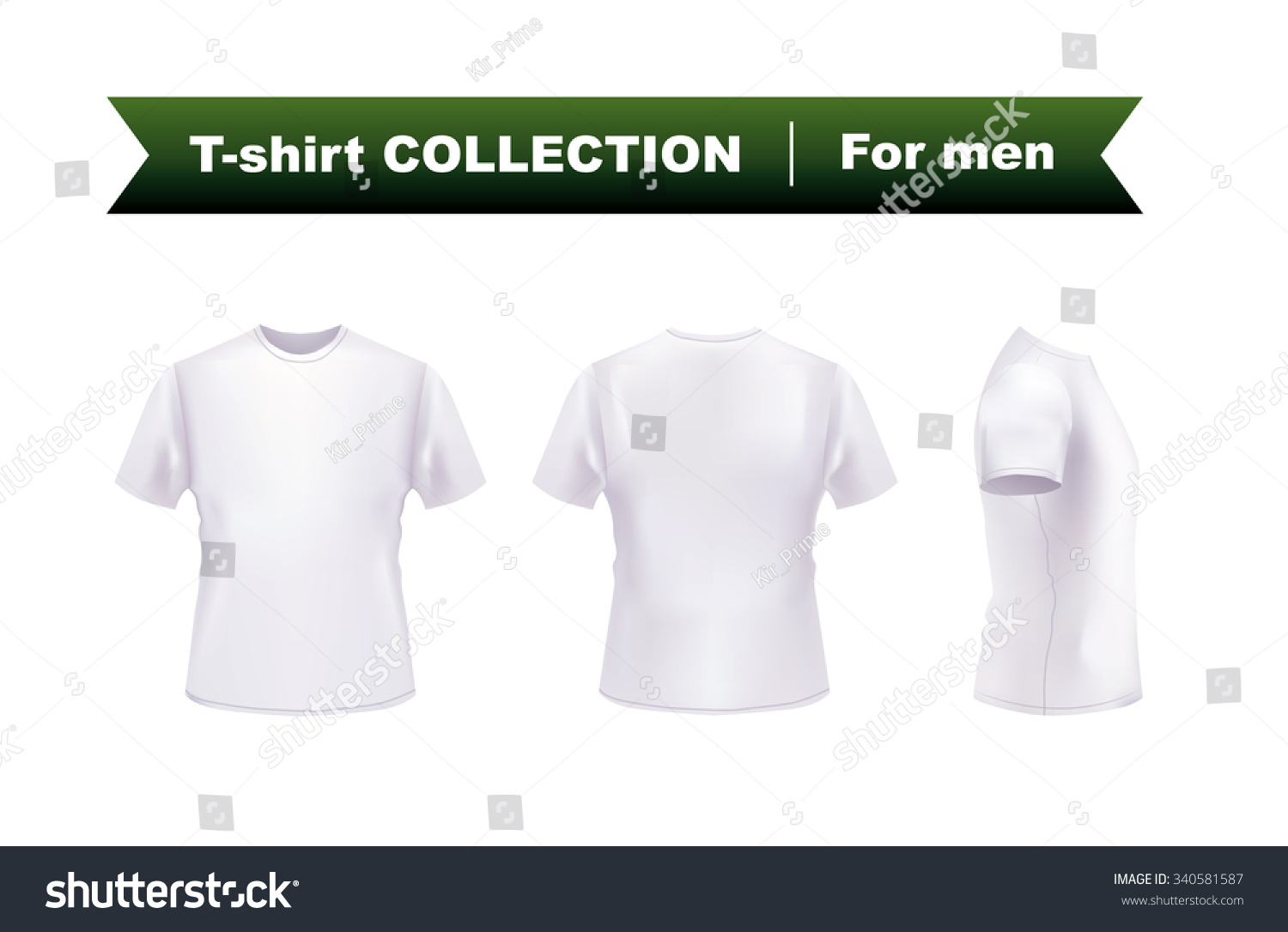White t shirt eps - White T Shirt Template Front Side And Back View Vector Eps10 Illustration