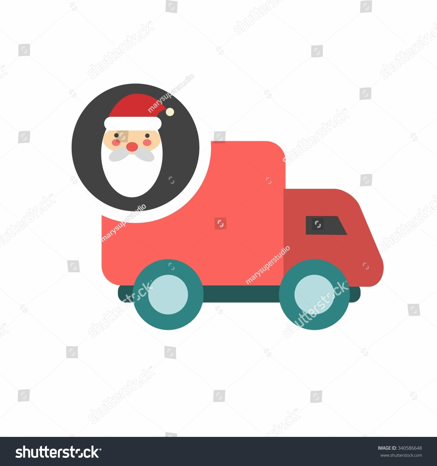 free santa claus delivery fast delivery stock vector 340586648