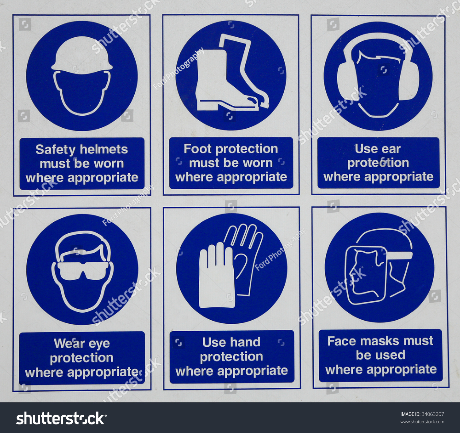 Safety Signs Stock Photo 34063207 : Shutterstock