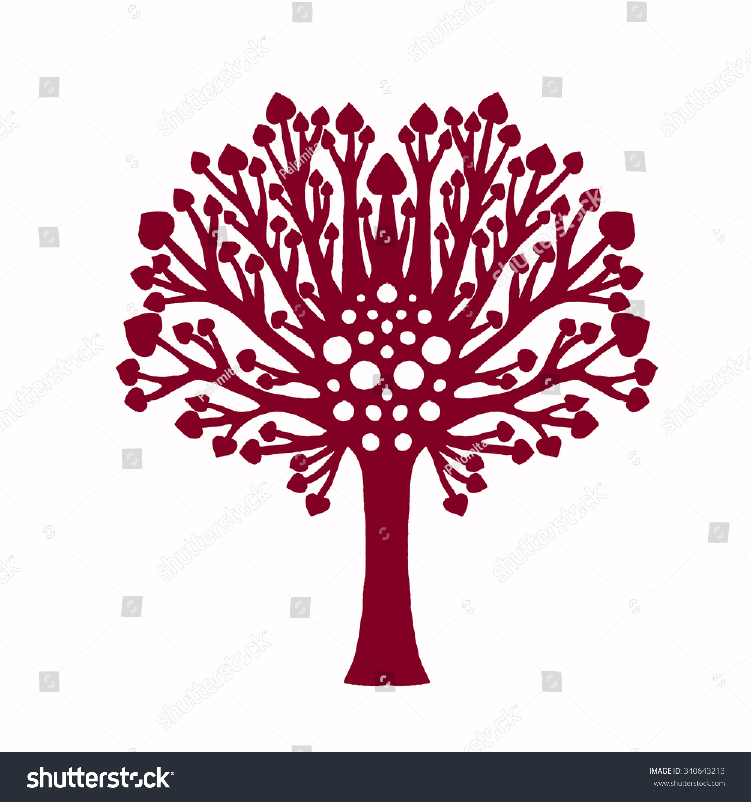 Tree Cutout Template. Mm Metal Steel Embossing Template Pine Tree ...