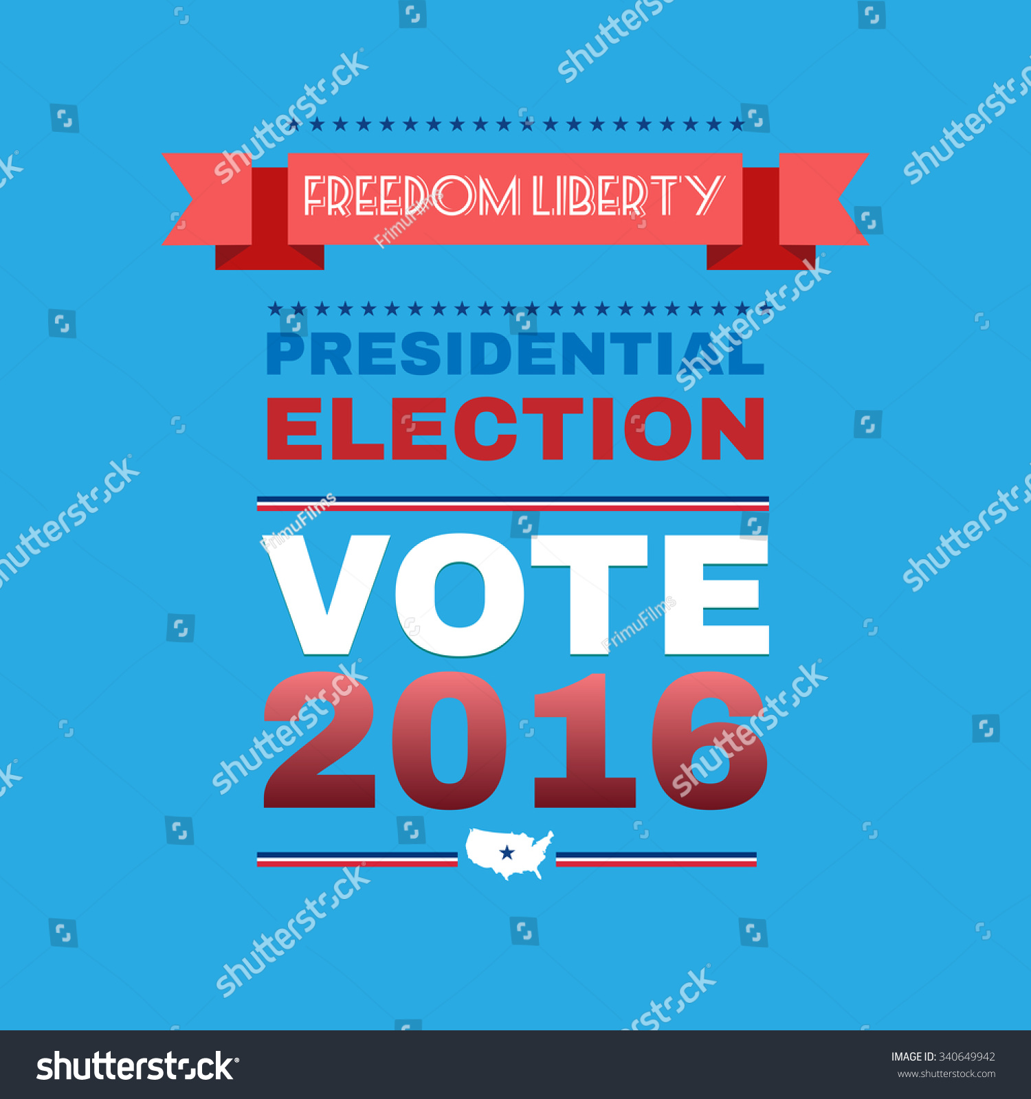 Election Day Campaign Ad Flyer Freedom Stock Vector 340649942 ...