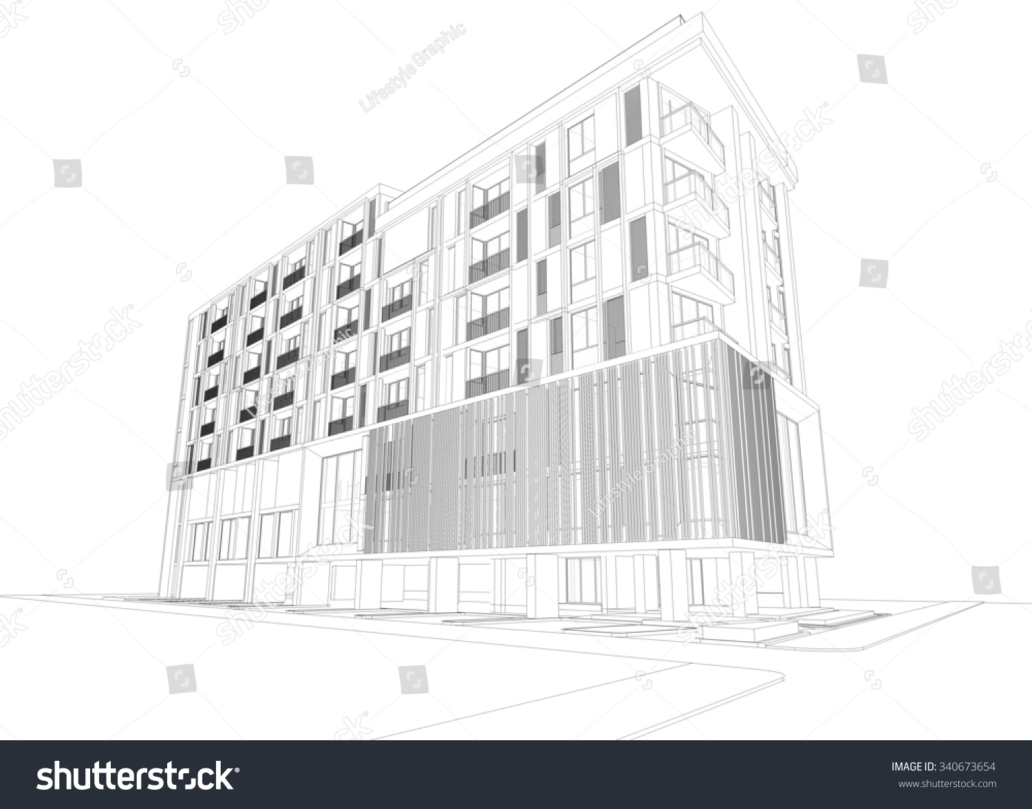 Bsl310 Wiring Diagram 21 Images Diagrams Bodine Motor Schematic Stock Photo Abstract D Rendering Of Building Wireframe Design Architecture 340673654 Awesome