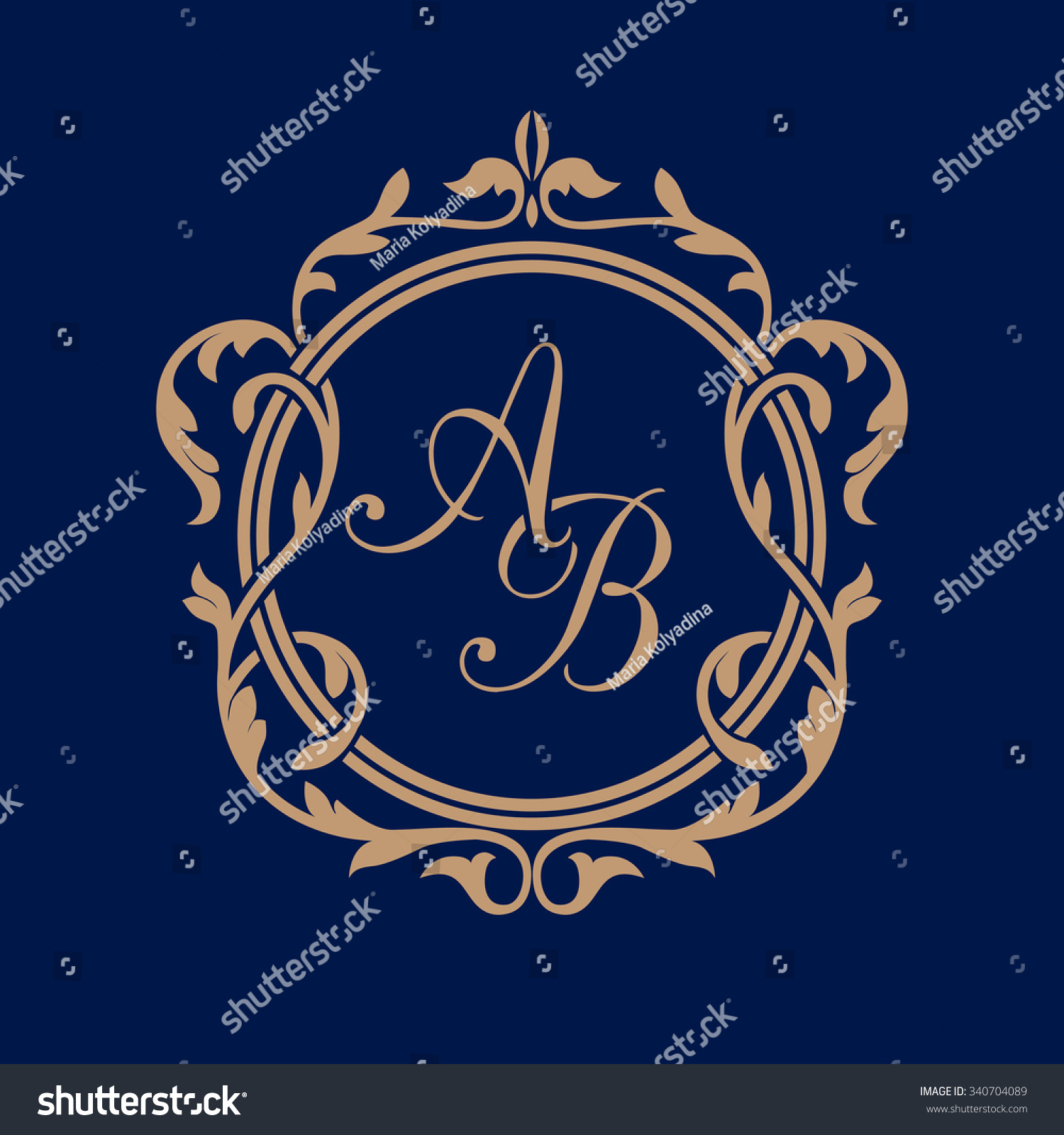 elegant floral monogram design template for one or two letters wedding monogram calligraphic elegant