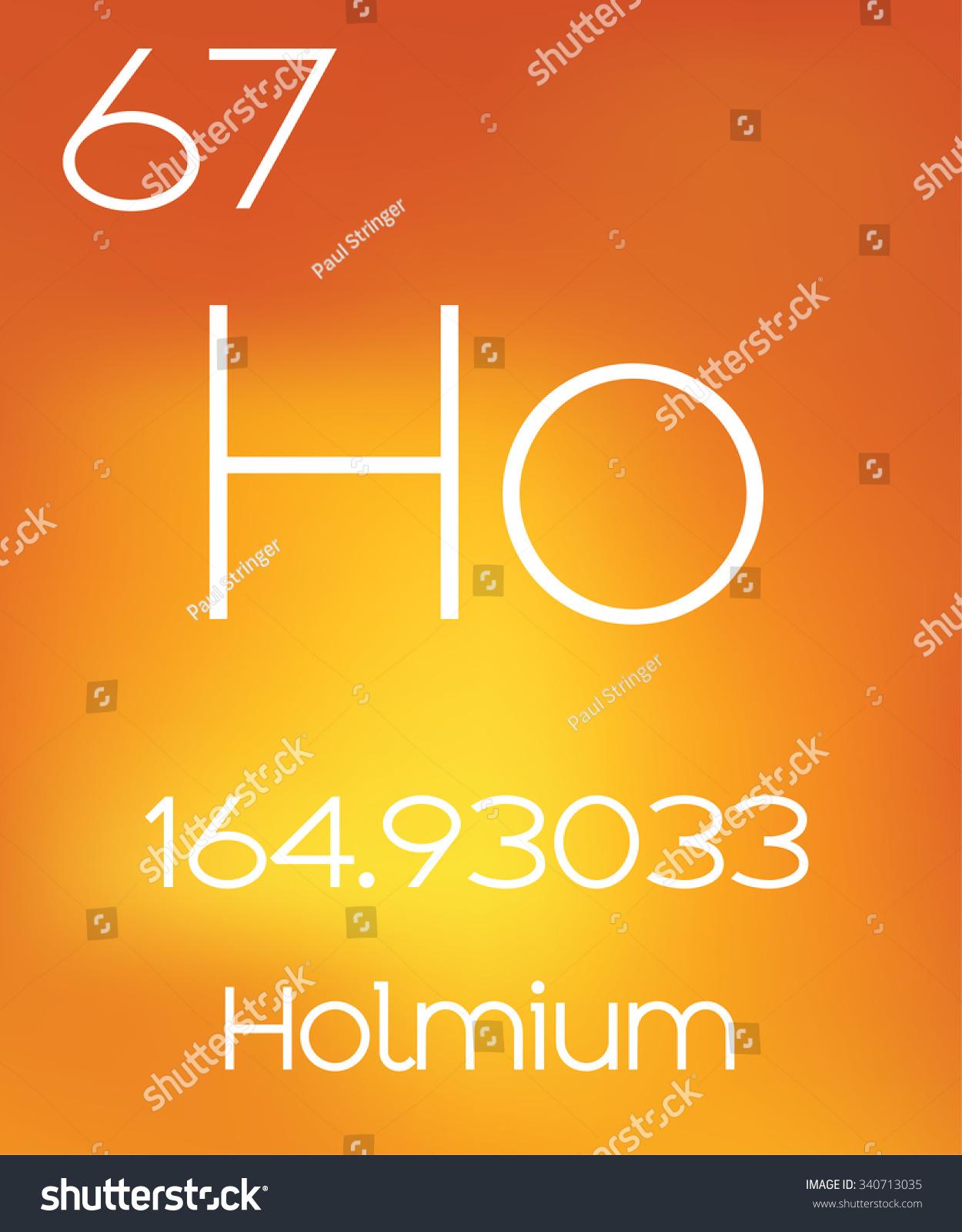 Informative Illustration Periodic Element Holmium Stock Illustration