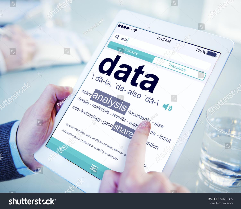 Man Reading Definition Data Stock Photo (Edit Now) 340716305