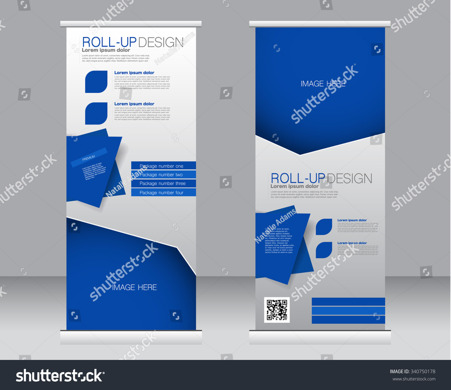 Roll Banner Stand Template Abstract Background Stock Vektor ...